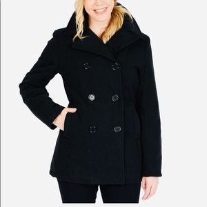 🎉HP🎉 Double breasted hooded pea coat